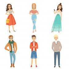 <b>Fashionable</b> guys and girls. <b>cartoon</b> male and female <b>characters in</b> ...