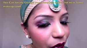 2016 style pk bollywood makeup tutorial arab inspired bollywood makeup red gold green eyemakeup video dailymotion