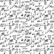 music notes in words music word and musical notes seamless texture and pattern