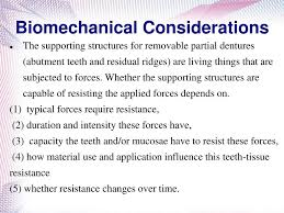 Principles Of Removable Partial Denture Design Biomechanics Of Removable Partial Denture Ppt Download