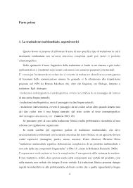 La traduzione multimediale - Tesionline