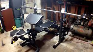 Xrs 20 Exercise Chart In Depth Look At Golds Gym Xrs 20 Olympic Workout Bench And Rack
