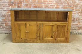Reclaimed Media Cabinet Zinc Top Media Cabinet Lake And Mountain Home