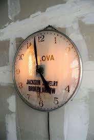 vintage industrial bulova wall clock