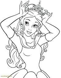 disney free printable coloring pages princess belle colouring beauty and the beast pa