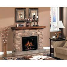 stone look convertible infrared a electric fireplace castlecreek heater