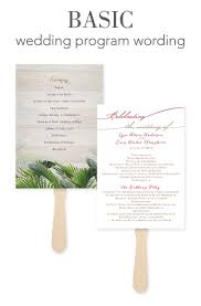 sample wedding program wording how to word your wedding programs invitations by dawn