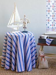 le cau stripes french country nautical round tablecloth saffron marigold