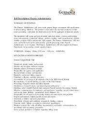 15 Payroll Accounting Job Description Resume Cover
