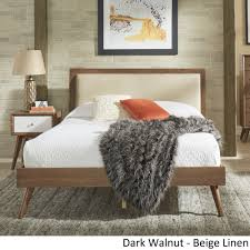 Sylvia Queen Size Mid-Century Linen and Wood Bed by iNSPIRE Q Modern - Free  Shipping Today - Overstock.com - 24016455