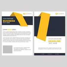 cleaning service advisement flyers yellow business brochure template with geometric shapes free psd