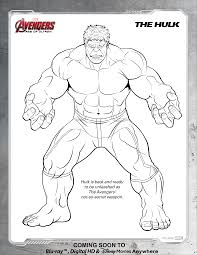hulk coloring pages avengers page free printable