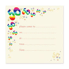 50th Birthday Invitations Templates 50th Birthday Party Invitation Templates Free Invitation