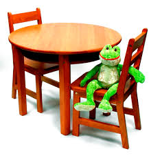 child s round table with shelf 2 chairs pecan finish lipper child s round table with shelf 2 chairs pecan finish lipper