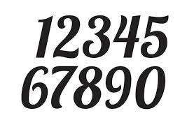 Number Stencil Font Number Stencil Font Hashtag Bg
