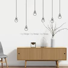 light bulbs wall decal