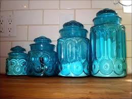 glass kitchen canister sets antique canister sets blue glass kitchen canisters ideas blue kitchen canister sets