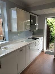 Peterborough Kitchen Cabinets Corian Silver Birch Integrated Drainboard Kitchen Renovation