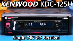 kenwood kdc 125u single din stereo new youtube Kenwood Speaker Wiring Diagram at Kenwood Kdc 125u Wiring Diagram