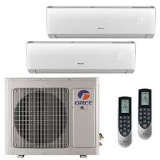 2 zone mini split. Exellent Zone GREE Multi21 Zone 26000 BTU Ductless Mini Split Air Conditioner With Heat  Inverter 2 Throughout 2 The Home Depot