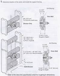 shower diverter valve diagram luxury space issue between mixing valve and tub spout