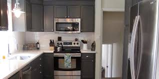 Classy Ideas Dark Gray Kitchen Cabinets Imposing Design Remodelaholic