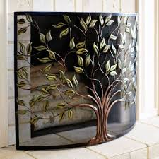 decorative fireplace screens within screen with tree of life motif google search ideas 12