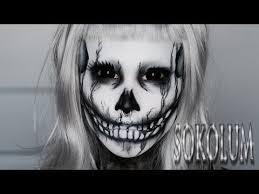 punk rock princess skull makeup tutorial