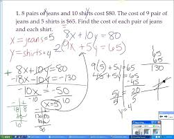 systems of equations substitution method worksheet maths algebra tes pdf