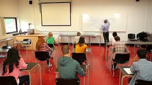 college classroom whiteboard. lecturer writing on the whiteboard in class a college - hd stock video clip classroom