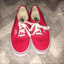 vans shoes red and white. vans shoes - red and white