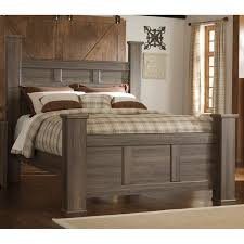 Rustic Modern Driftwood Brown King Size Bed - Fairfax | RC Willey ...