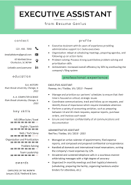 Executive Assistant Resume Example Writing Tips Rg Resume