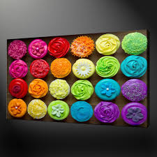 colourful cupcakes canvas print art  on cupcake canvas print wall art with canvas print pictures high quality handmade free next day delivery