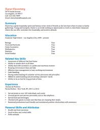 Fast Food Employee Resume