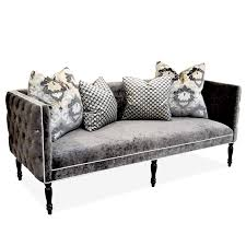 Grey Tufted Sofa A92