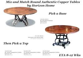 round copper top dining table was now lights over artisan tables