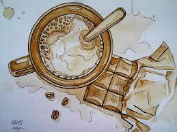 рисуем чашку кофе