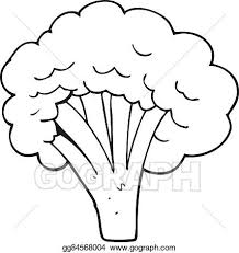 broccoli clipart black and white. Delighful And Black And White Cartoon Broccoli On Broccoli Clipart Black And White B