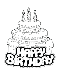 Coloring Pagescake Coloring Page Cake Outstanding Cake Coloring