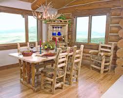 Log Dining Room Tables Cabin Dining Room Furniture Log Dining Room Table Set
