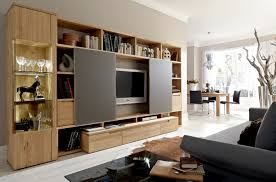 Furniture:Modern Storage Wall Unit With Tv Inside It Light Wooden Modern Storage  Wall Unit