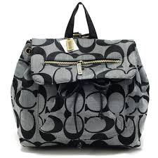 Coach Classic In Signature Medium Grey Backpacks AOT Sale Clearance Outlet