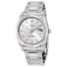 rolex oyster perpetual date silver dial men s watch 115200sso