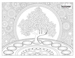Small Picture Free Leaf Mandala Adult Coloring Page Kolorer