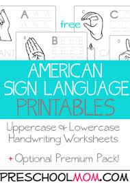 Over 500 Free Preschool Worksheets American Sign