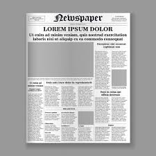 Newspaper Front Template Realistic Newspaper Front Page Template Vector Premium
