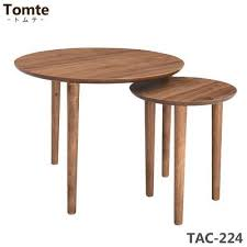 round nesting tables tac 224 walnut coffee center table wood living room table nordic natural furniture drawer interior simple café