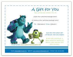 Gift Certificate Template For Kids Linkv Net