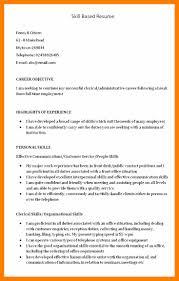 6 Skills Based Resume Templates Janitor Resume